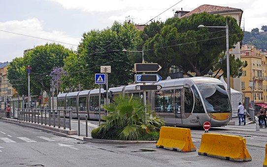 Nice, Tram, Bus Stop Old Town, Modern, Hybrid