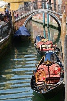 Venice, Boats, Water, Channel, Gondola, Tourism