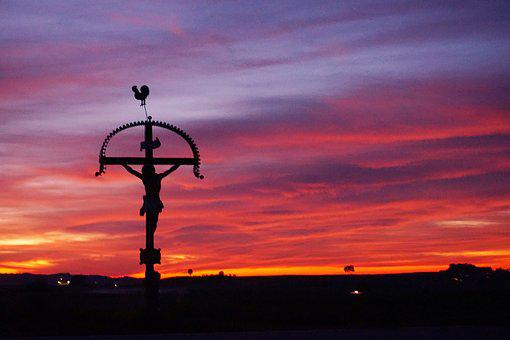 Wayside Cross, Cross, Jesus, Atmosphere, Catholic
