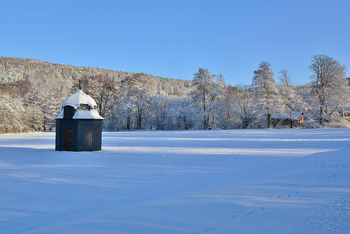 Winter, Park, Barn, Wintry, Cold