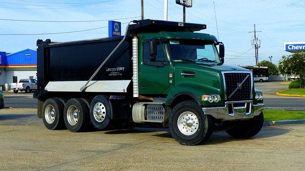 Truck, American, Transport, Work, Vehicle, Traffic