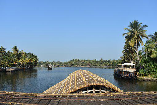 Alleppey, Alappuzha, Kerala, India, Asia, River, Water