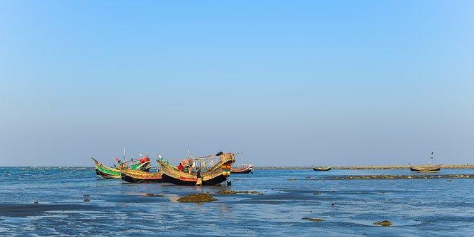 Boat, Bangladesh, Saint Martin Island, Golden Hour