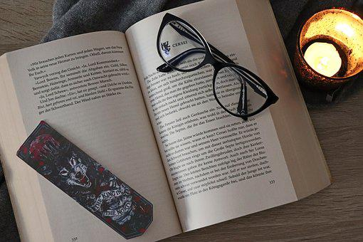 Book, Glasses, Candle, Read, Paper, Literature, Learn