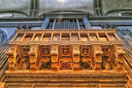 Organ, Church, Architecture, Religion, Instrument