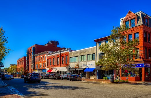 Portsmouth, New Hampshire, America, City, Urban, Town