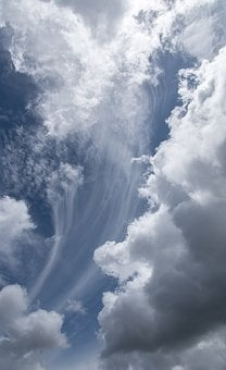 Clouds, White, Grey, Weather, Cloudscape, Dramatic