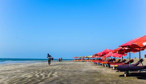 Bangladesh, Beach, Coast, Sea, Landscape, Nature, Coral