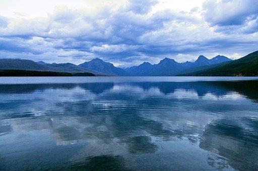 Dark Sky Over Lake Mcdonald, Glacier National Park