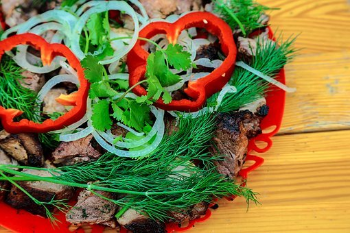 Meat, Vegetables, Food, Bbq, Fresh, Kitchen, Grill