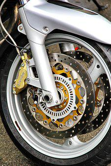 Motorcycle, Front Wheel, Two Wheeled Vehicle, Brake