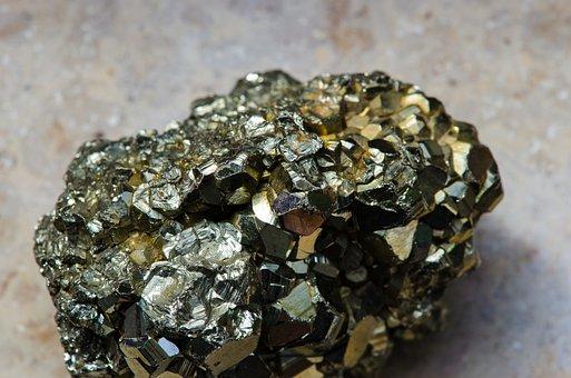 Pyrite, Gem, Mining, Minerals, Collection, Stones