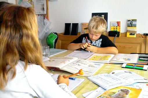 School, Homework, Education, Girl, Boy