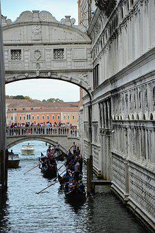 Venice, Sighs, Bridge, Italy, Channel, Gondola, Water