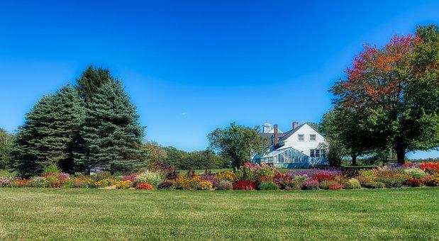 Maine, New England, America, Farm, Landscape, Autumn