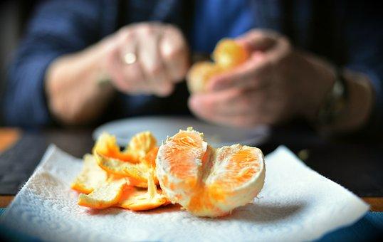 Shell, Orange Peel, Peel, Fruit, Orange, Food, Hands