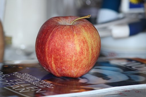 Apple, Fruit, Red Apple, Apple On A Book, Agriculture