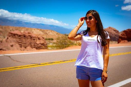 Road, Women, Person, Landscape, Route