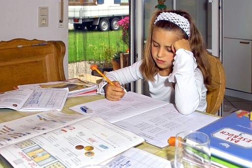 School, Homework, Education, Girl