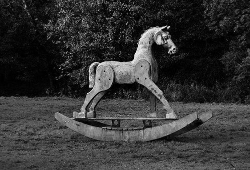 Wooden Rocking Horse, Sculpture