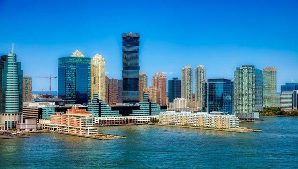 Jersey City, New Jersey, America, Urban, Skyline