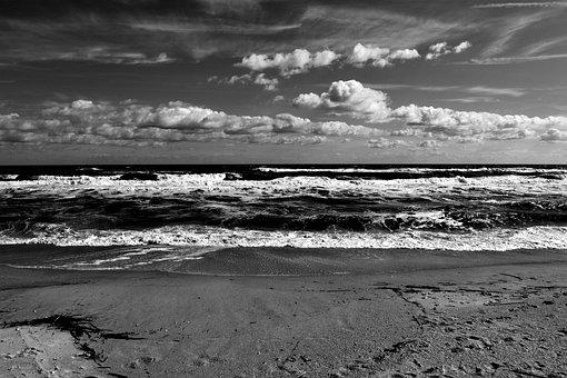 Ocean, Sea, Water, Surf, Coastline, Landscape