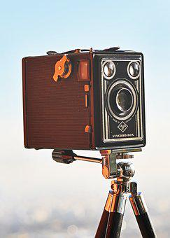 Box Camera, Film, 6x9 Film Camera, Retro, Antique