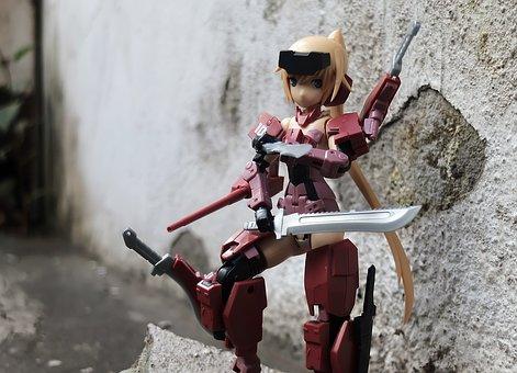 Young, Lady, Female, Toy, Figurine, Action, Kotobukiya