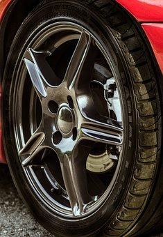 Alloy Wheels, Sports Car, Car, Black Rims, Auto, Tire