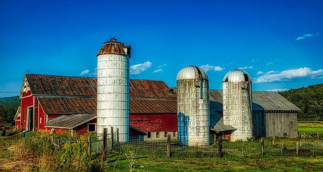 Farm, Barn, Vermont, America, Mood, Landscape, Nature