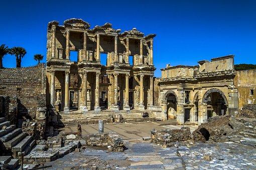 Ephesus, Turkey, Library, Architecture, Building