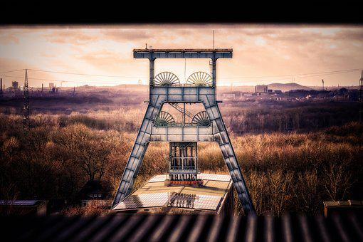 Bill, Headframe, Ruhr Area, Carbon, Mining, Mine