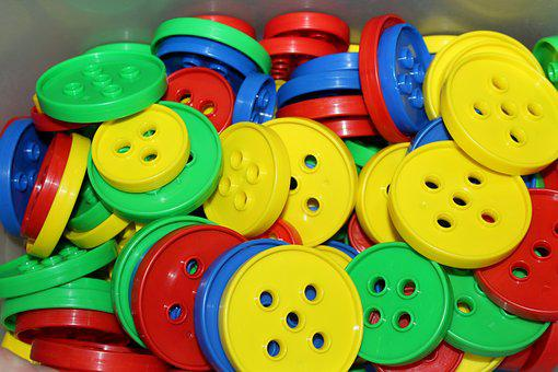 Buttons, Toys, Counting, Education, Colorful, Children