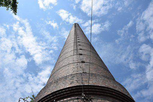 Chimney, The Industry, Sky, Clouds, Ladder, Levels