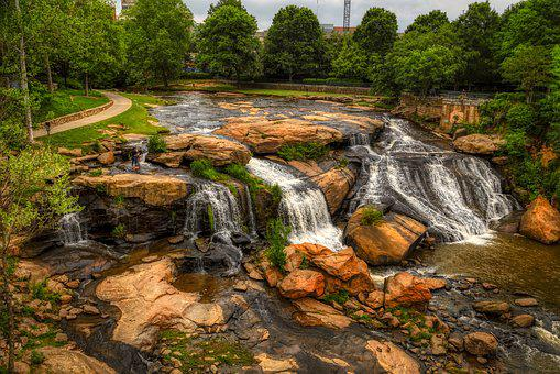 Reedy River, Greenville, South Carolina, America