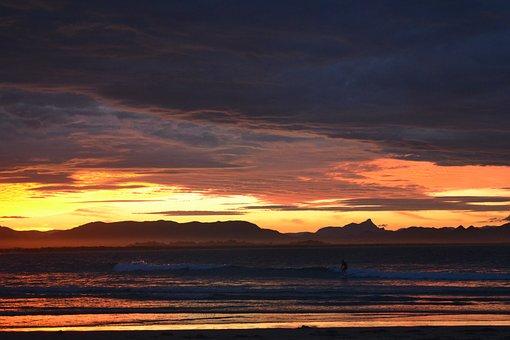 Sunset, Byron Bay, Hinterland, Hills, Clouds, Beach
