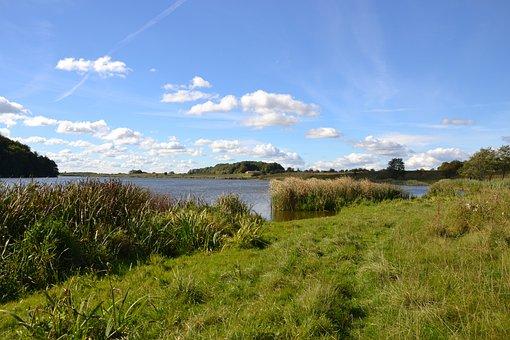 Lake, Clouds, Landscape, Nature, Sky, Waters, Winderatt
