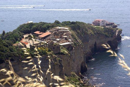 Naples, Italy, Posillipo, Promontory, Marechiaro, Gulf