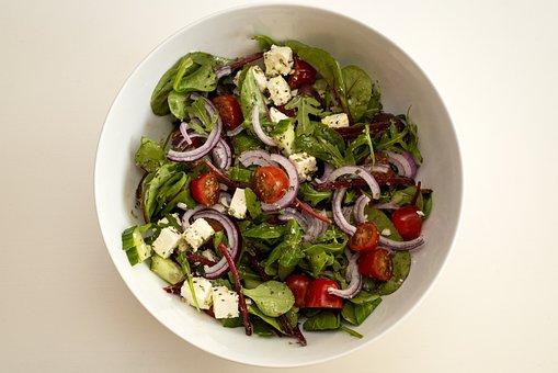Salad, Mat, Vegetables, Fresh, Vitamins, Tomatoes
