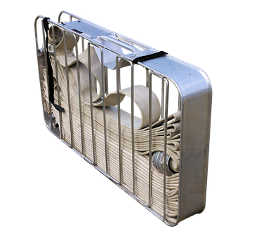 Carrying Basket For Fire Hoses, Isolated, Alu, Metal
