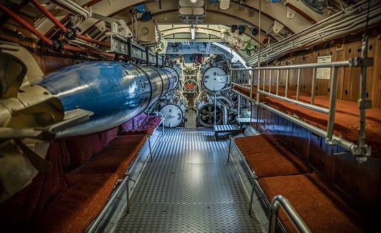 U Boat, Interior, Torpedo Tube, Military, Navy, Torpedo
