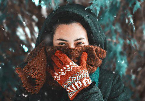 Woman, Model, Snow, Nature, Cold, Outside, Young, Face