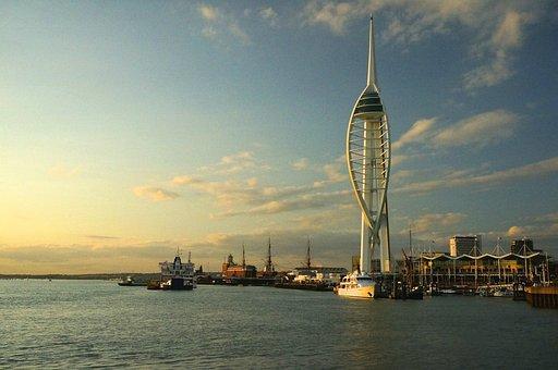 Spinnaker, Tower, Portsmouth, Harbour, Port, Maritime