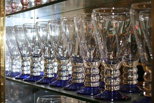Glass, Glasses, Restaurant, Display Case, Eiscafe