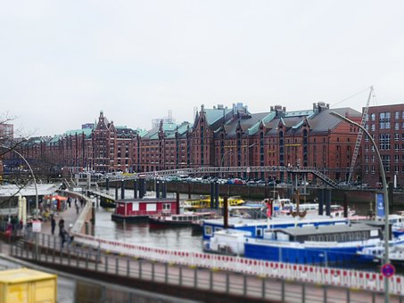 Hamburg, Miniature, Elbe, River, Ship, Boat