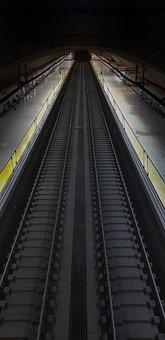 Train, Roads, Pathways, Destination, Tunnel, Night