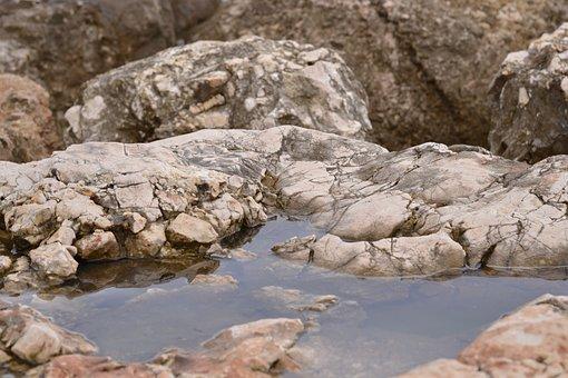 Stones, Water, Reflection, Costa, Landscape, Sea, Rocks