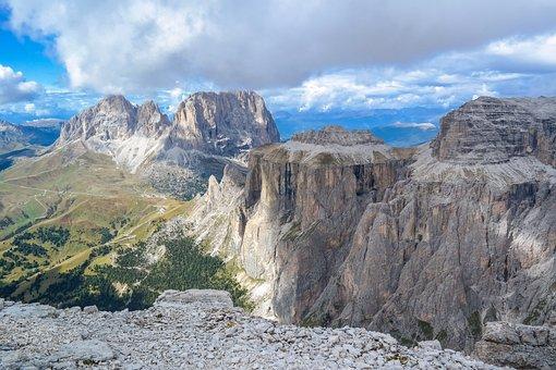 Alpine, Dolomites, Mountains, Sella, Sassolungo