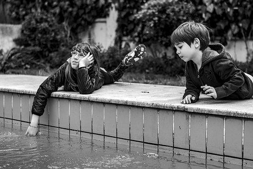 Children, Kids, Sitting, Fun, Smile, Young, Girl, Boy