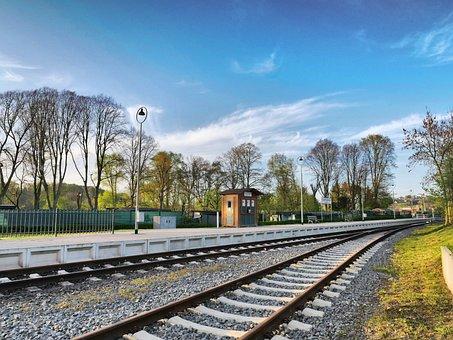 Railway Station, Platform, Sky, Metro, Stop, Railway
